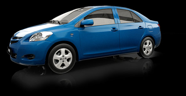 new vios blue car model